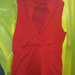 LULULEMON Athletica red V-neck tank top